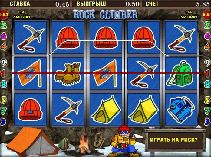 Бонусный раунд в игре Rock Climber из клуба Вулкан Россия