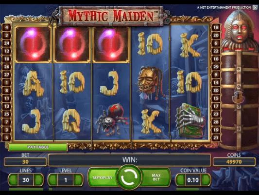 Как играть в автомат Mythic Maiden на мобильной версии Вулкана