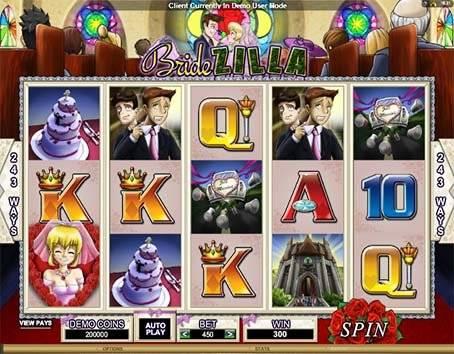Бонусы в игровом автомате Bridezilla из казино Вулкан