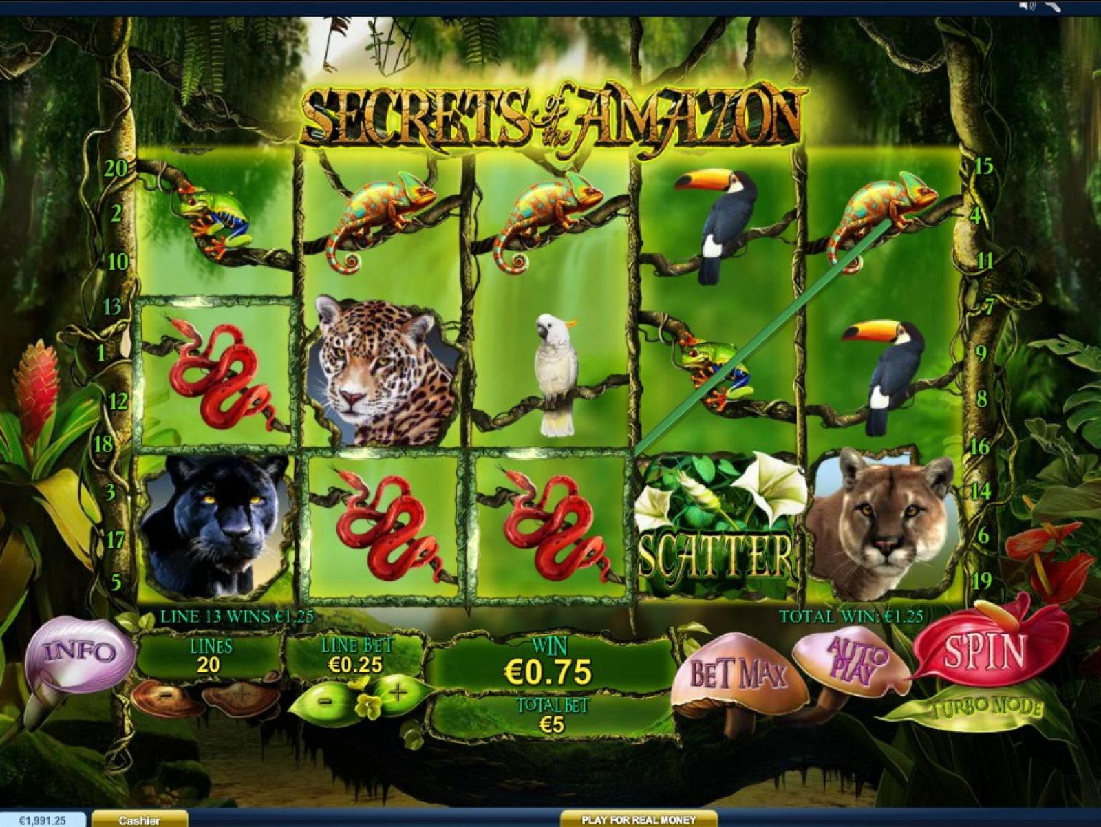 Нюансы оформления и геймплея Secrets of the Amazon в казино Вулкан