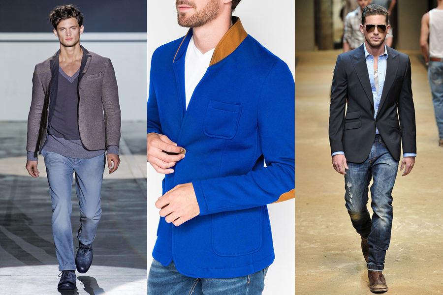 Выгони из себя колхоз! Пиджак и джинсы   да или нет?