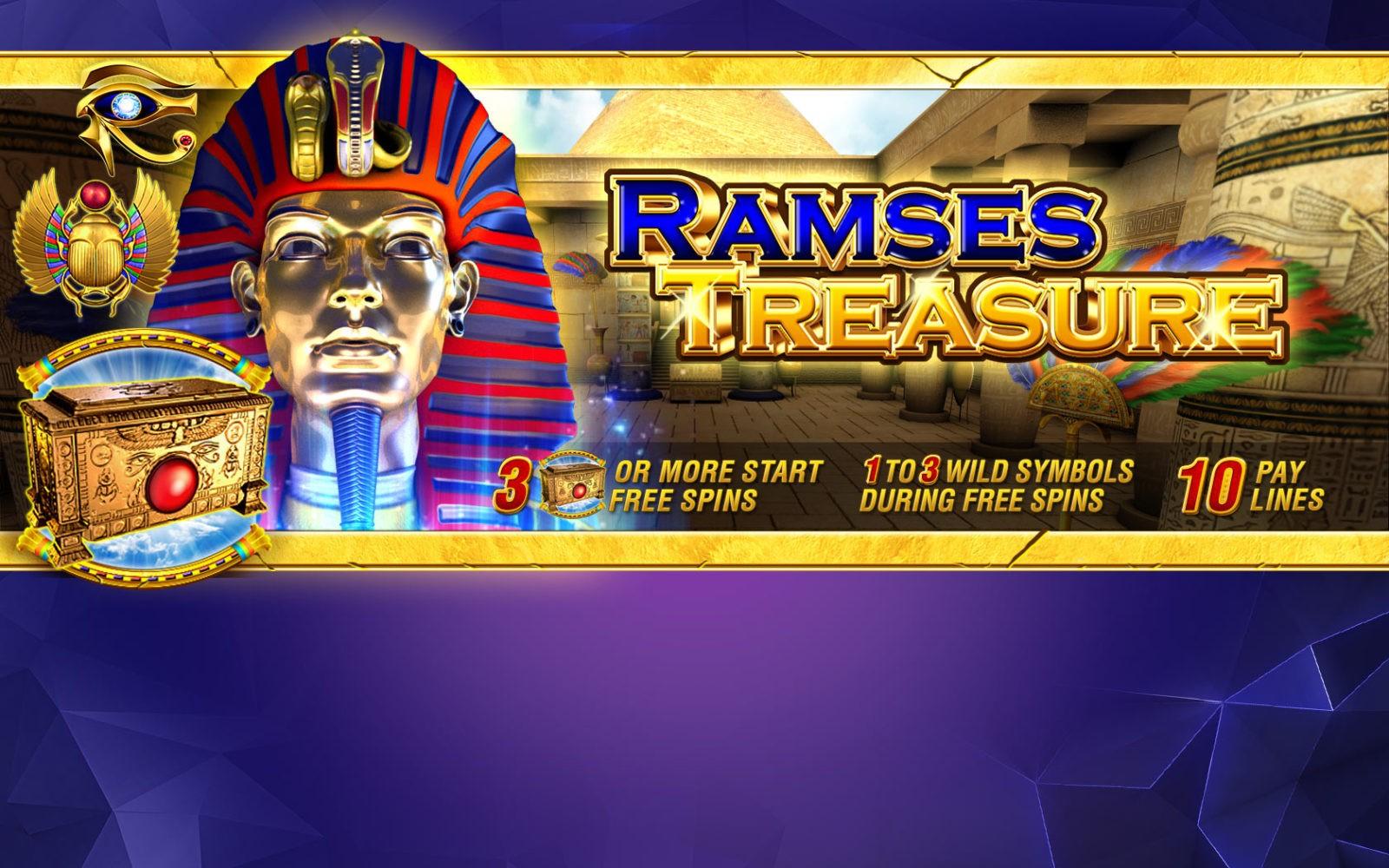 Игровой автомат Ramses Treasure: особенности и основные преимущества