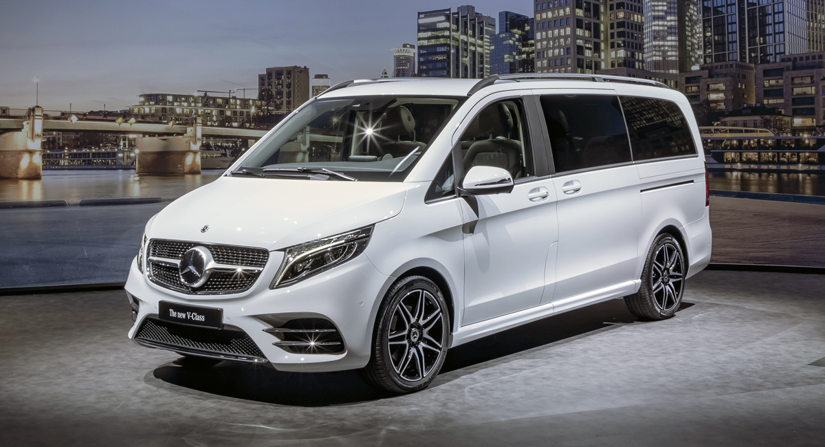 Vorstellung der neuen Mercedes Benz V Klasse 2019Presentation of the new Mercedes Benz V Class 2019