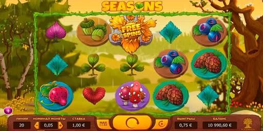 Специальные символы автомата Seasons с сайта казино Вулкан 24