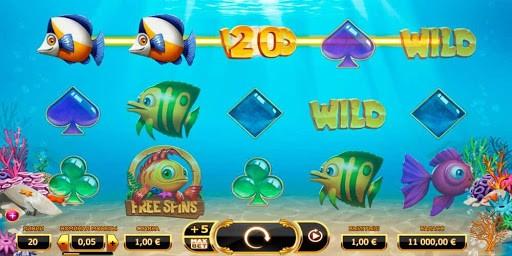 Характеристики и бонусные опции игры Golden Fish Tank из интернет казино Адмирал