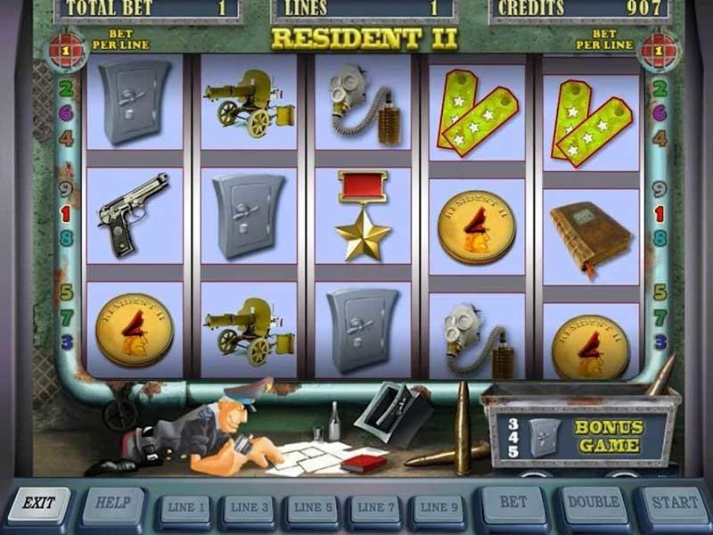 Бонусные игры и элементы геймплея автомата Resident из казино Вулкан Бет